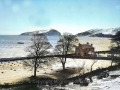 A snowy Davaar Island from Kilkerran