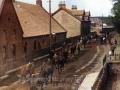 Horses passing the Tartan Kirk