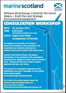 Campbeltown Consultation Event on Offshore Wind Plans