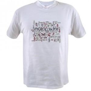 Alone - Edgar Allan Poe Word Cloud - Value T-Shirt