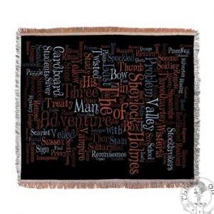 Sherlock Holmes Woven Blanket
