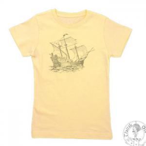Wynken, Blynken, and Nod by Eugene Field. Image of a ship made up of the childrens poem Wynken, Blynken and Nod.