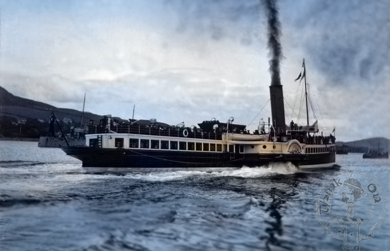 Duchess of Hamilton Paddle Steamer leaving Campbeltown - 2