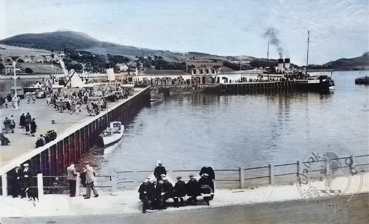 A busy Campbeltown Harbour
