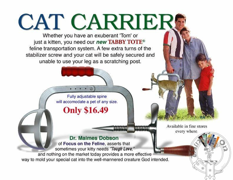 A present for fathers who have a cat